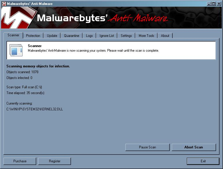 malwarebytes final scan